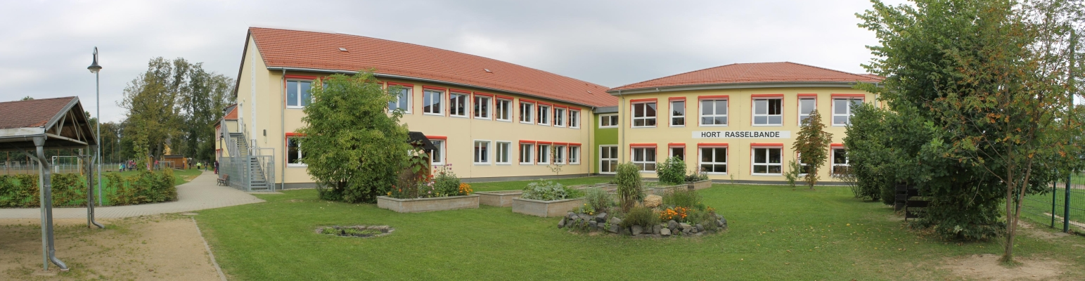 Rückseite des Schulhauses